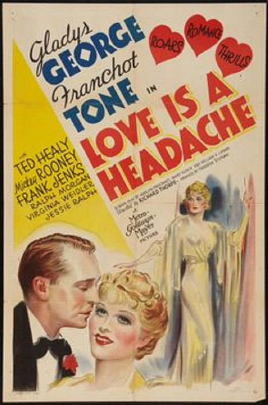 Gladys George and Franchot Tone in Love Is a Headache (1938)
