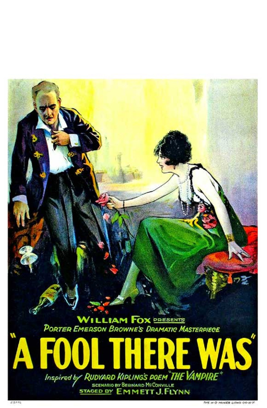 Edward José, Lewis Stone, and Estelle Taylor in A Fool There Was (1922)