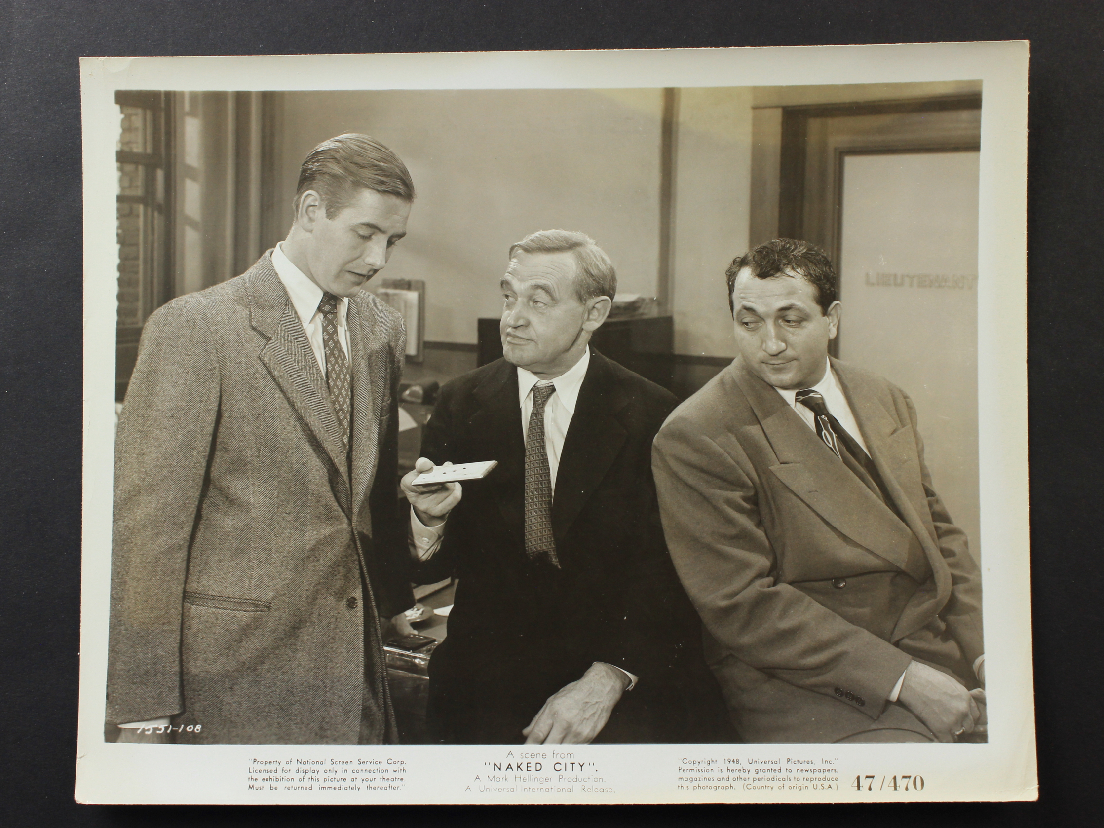 Barry Fitzgerald, Tom Pedi, and Don Taylor in The Naked City (1948)