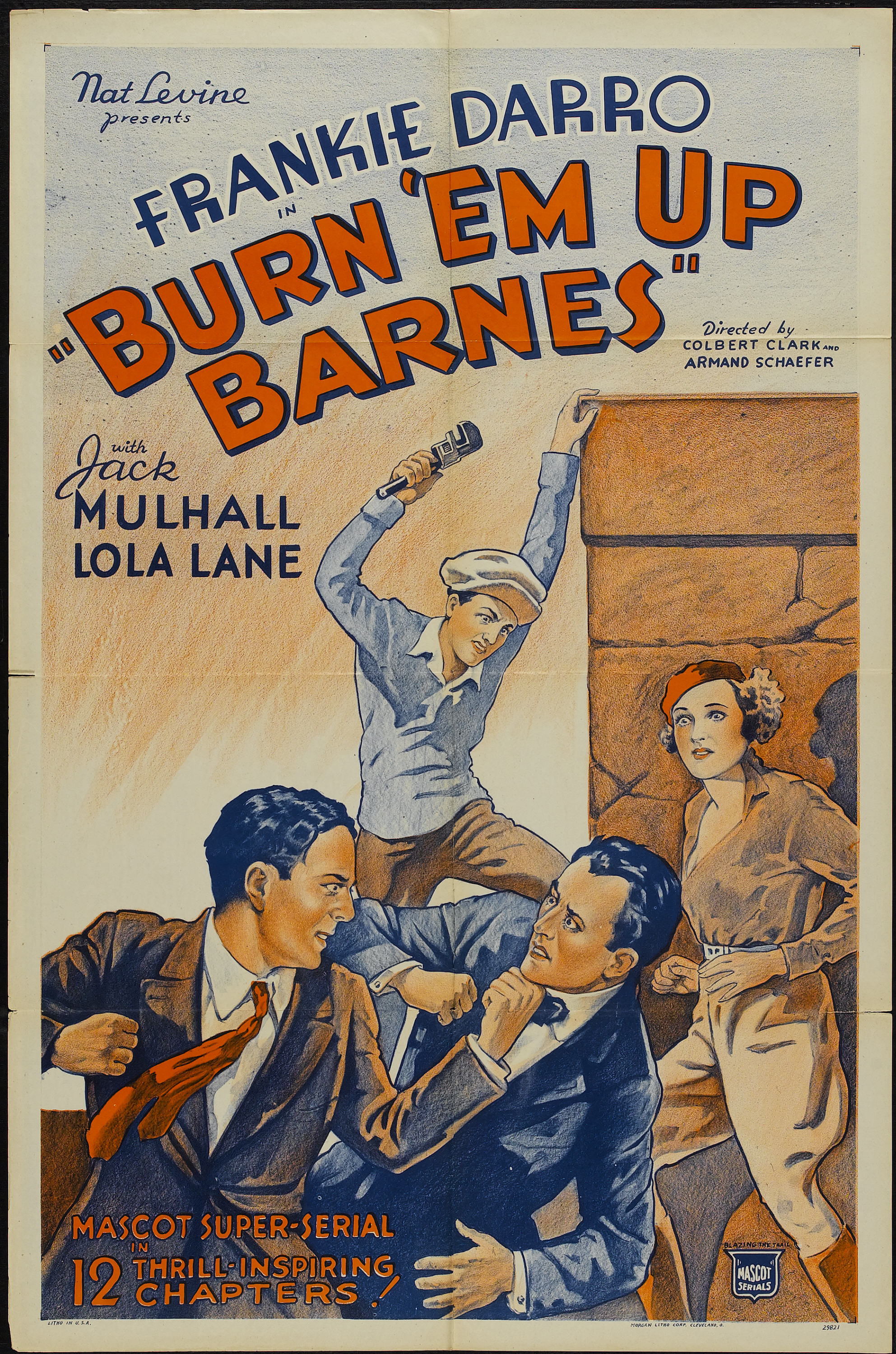 Frankie Darro, Lola Lane, Francis McDonald, and Jack Mulhall in Burn 'Em Up Barnes (1934)