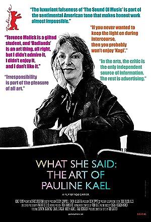 Where to stream What She Said: The Art of Pauline Kael