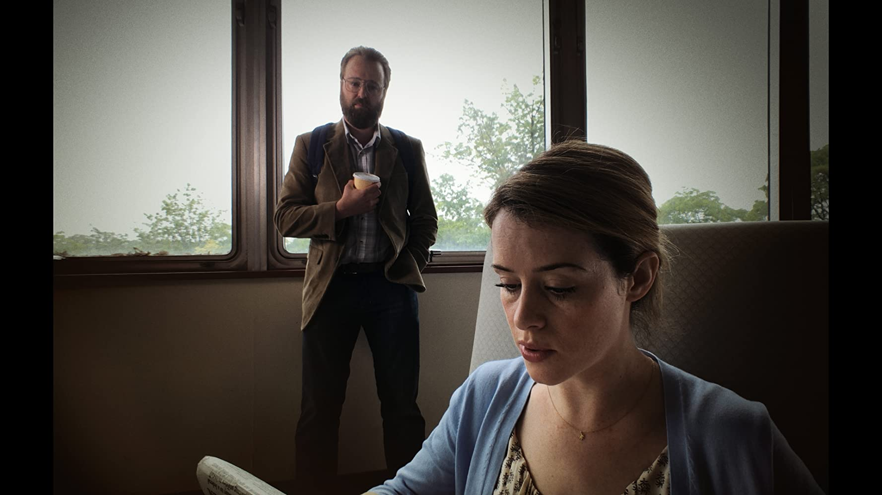 Joshua Leonard and Claire Foy in Unsane (2018)