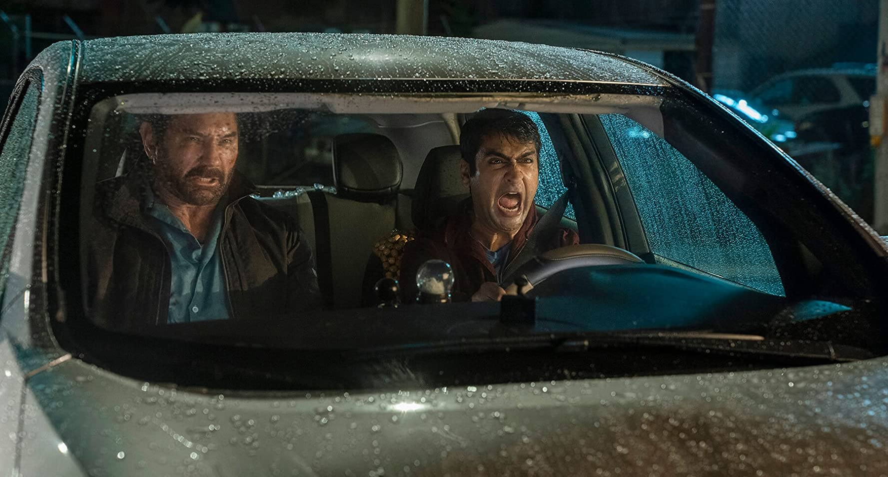 Dave Bautista and Kumail Nanjiani in Stuber (2019)