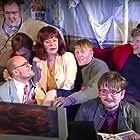 Helga Braga Jónsdóttir, Benedikt Erlingsson, Jón Gnarr, Óskar Jónasson, Gunnar Jónsson, Sigurjón Kjartansson, and Þorsteinn Guðmundsson at an event for Fóstbræður (1997)