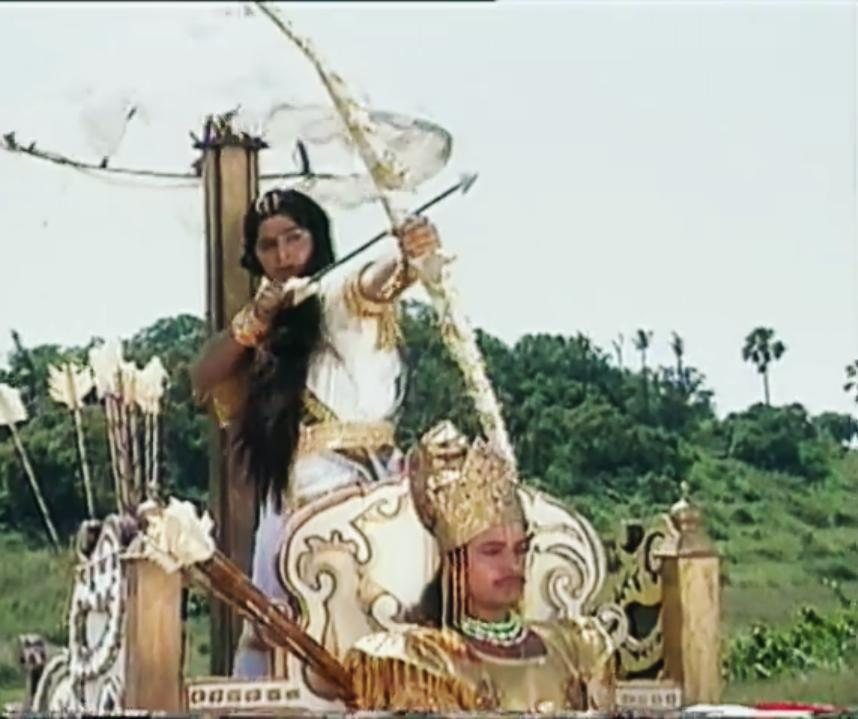 Arjun and Samir Rajda in Mahabharat (1988)