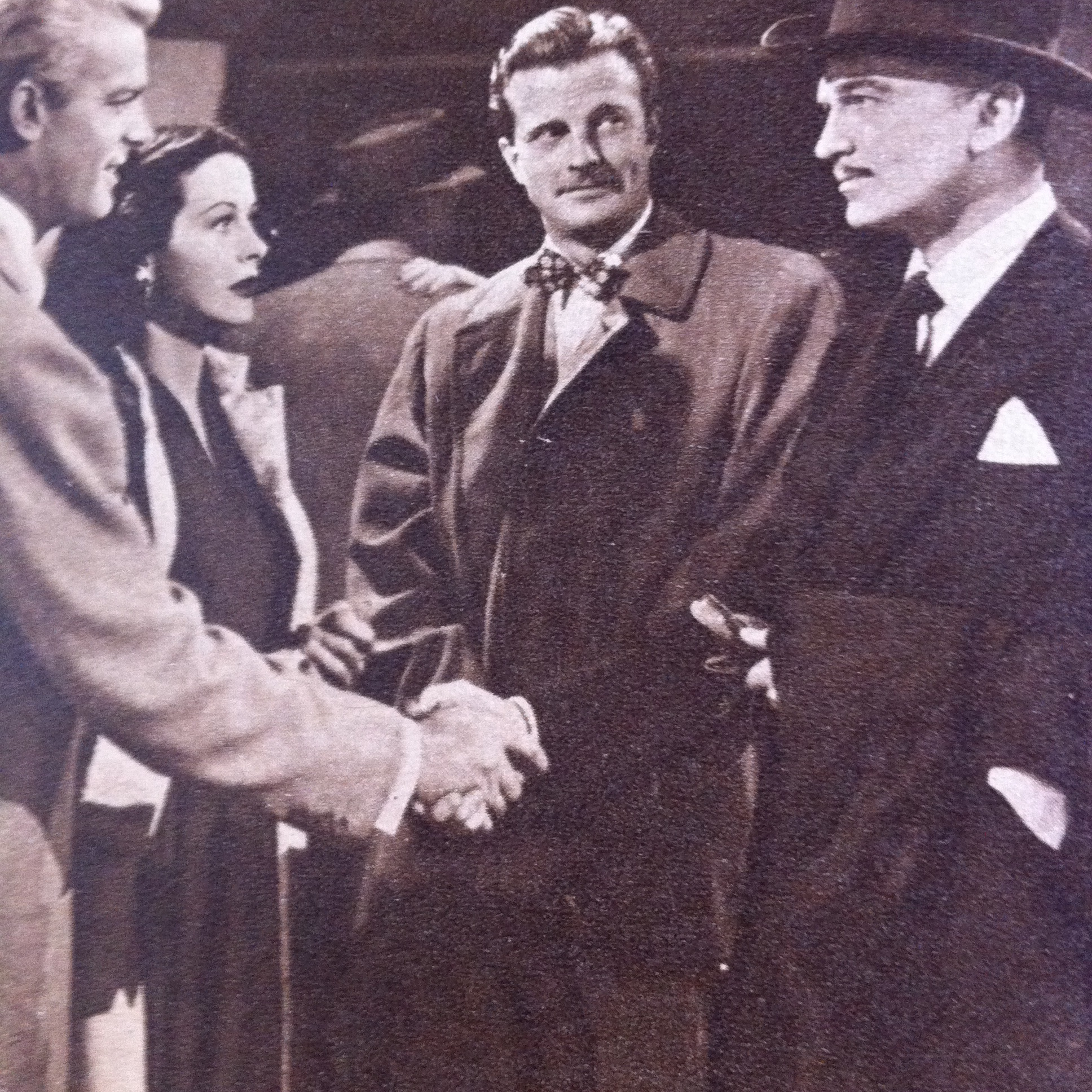 Hedy Lamarr, John Loder, William Lundigan, and Dennis O'Keefe in Dishonored Lady (1947)