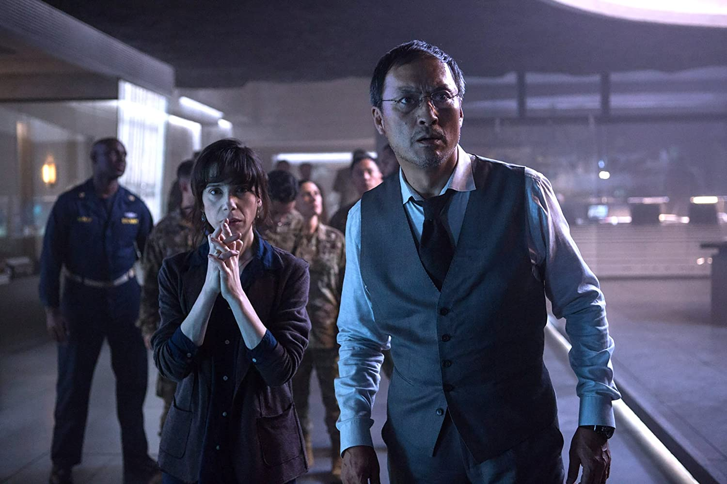 Ken Watanabe and Sally Hawkins in Godzilla: King of the Monsters (2019)