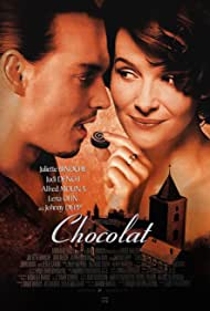 Johnny Depp and Juliette Binoche in Chocolat (2000)