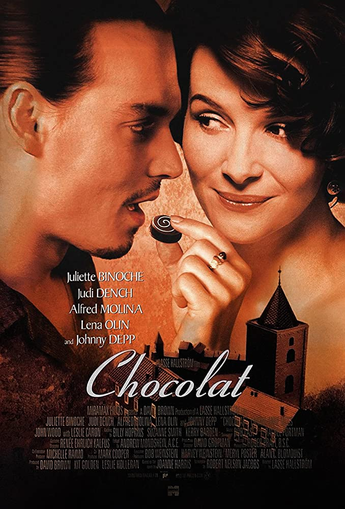 Johnny Depp and Juliette Binoche in Chocolat (2000)
