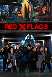 Red X Flags Poster