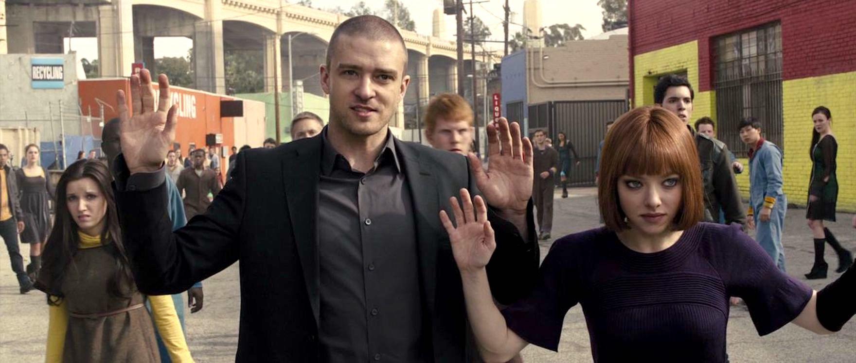 Justin Timberlake dan Amanda Seyfried dalam In Time (2011)
