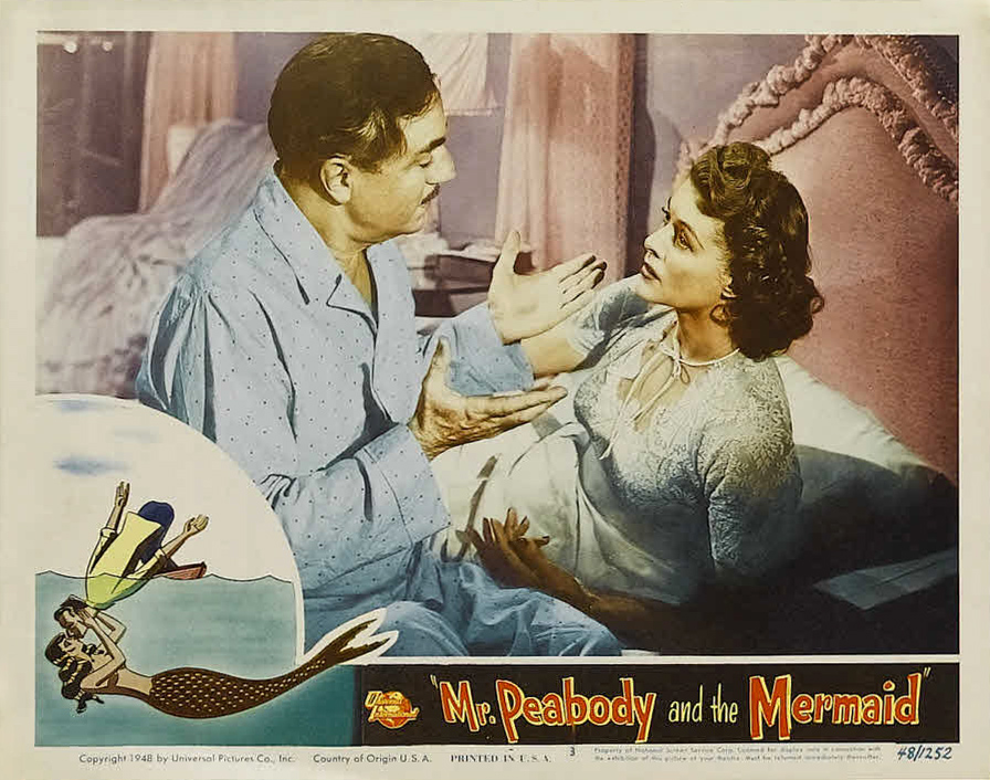 Image result for Mr. Peabody and the Mermaid 1948 william powell and irene hervey