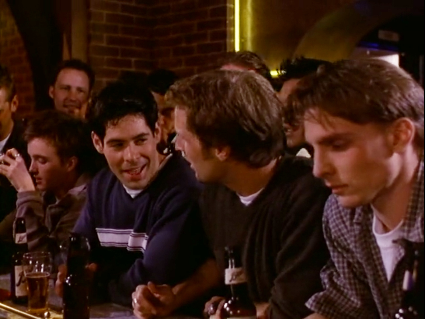 "Frat Boys on ""Melrose Place"" in the 90s."