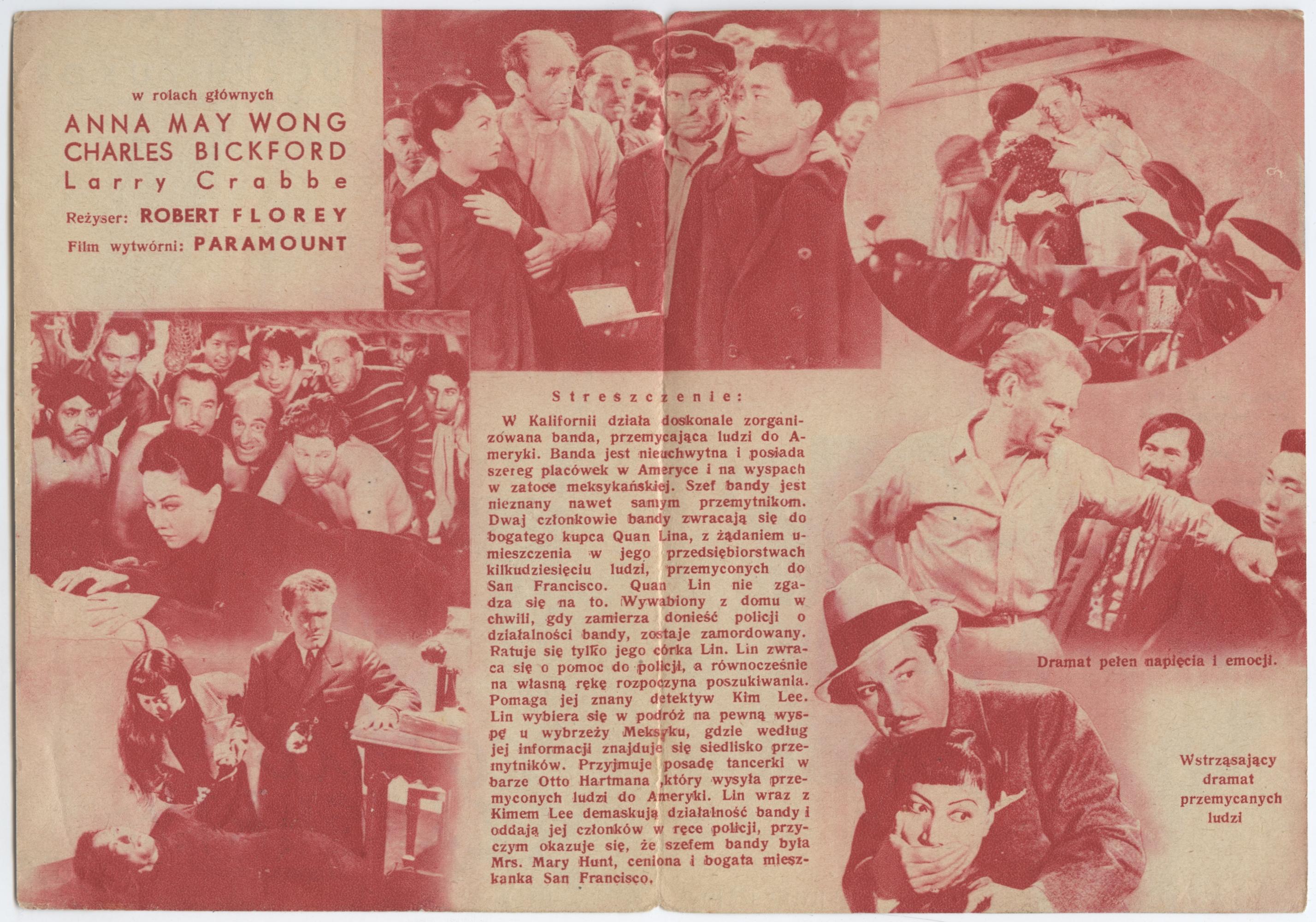 Anthony Quinn, Charles Bickford, Philip Ahn, Evelyn Brent, Wong Chung, Buster Crabbe, J. Carrol Naish, and Anna May Wong in Daughter of Shanghai (1937)