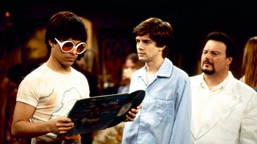 Wayne Knight, Wilmer Valderrama, and Topher Grace in That '70s Show (1998)