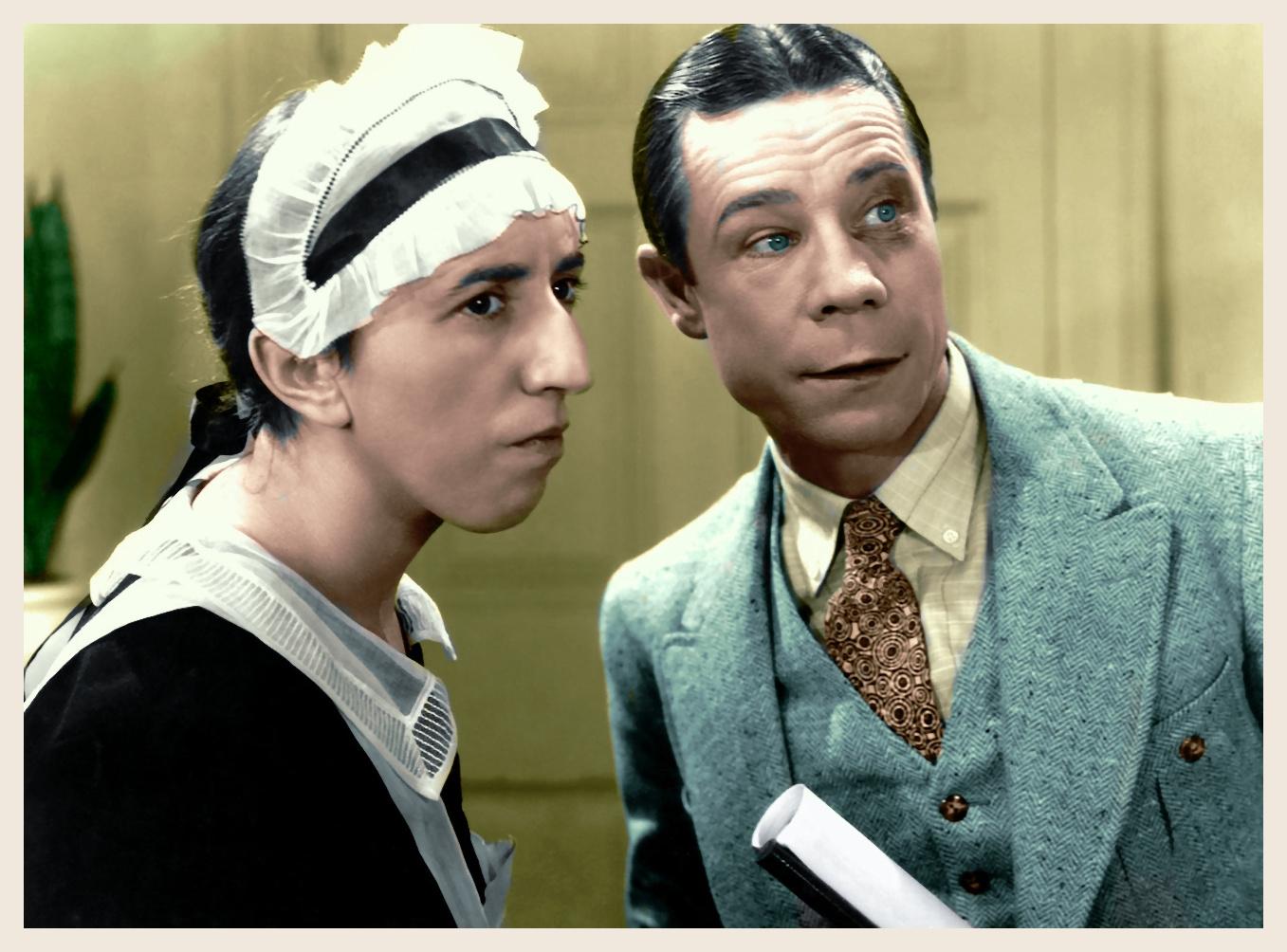 Margaret Hamilton and Joe E. Brown in When's Your Birthday? (1937)