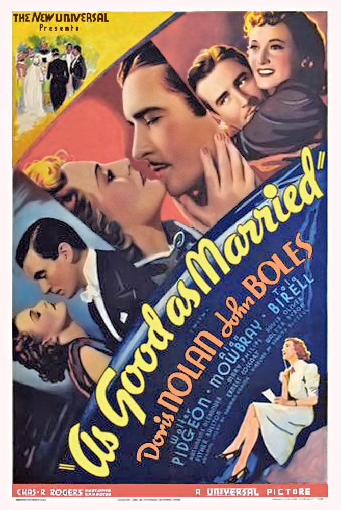 Tala Birell, John Boles, Doris Nolan, and Walter Pidgeon in As Good as Married (1937)