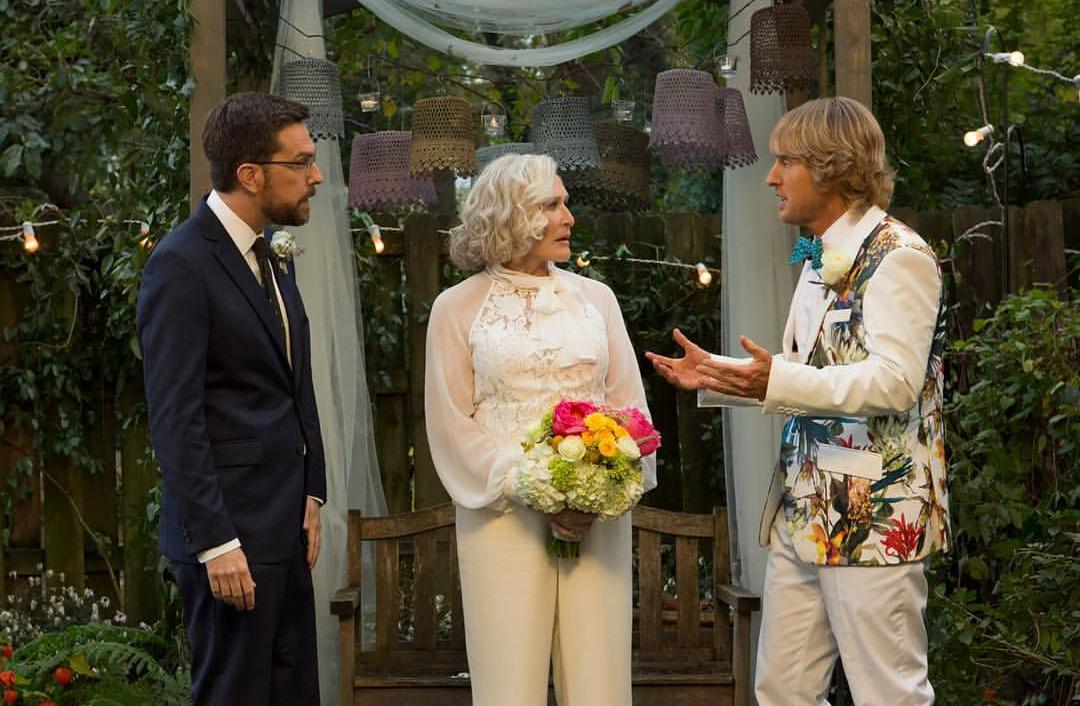 Glenn Close, Owen Wilson, and Ed Helms in Father Figures (2017)