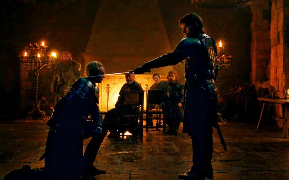 Nikolaj Coster-Waldau, Liam Cunningham, Peter Dinklage, Kristofer Hivju, Gwendoline Christie, and Daniel Portman in Game of Thrones (2011)