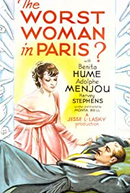 Benita Hume and Adolphe Menjou in The Worst Woman in Paris? (1933)