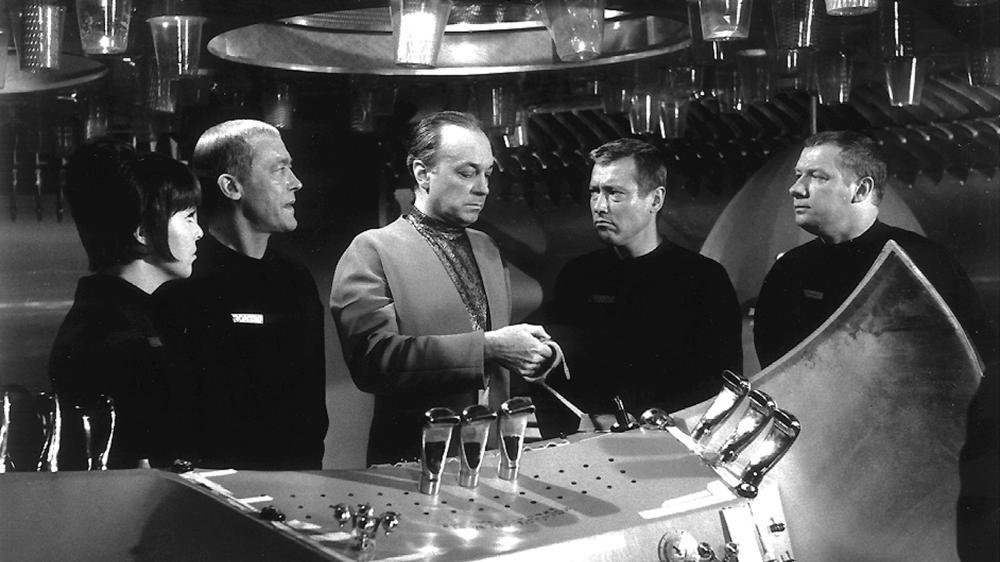 Claus Holm, Ursula Lillig, Dietmar Schönherr, and Wolfgang Völz in Raumpatrouille - Die phantastischen Abenteuer des Raumschiffes Orion (1966)