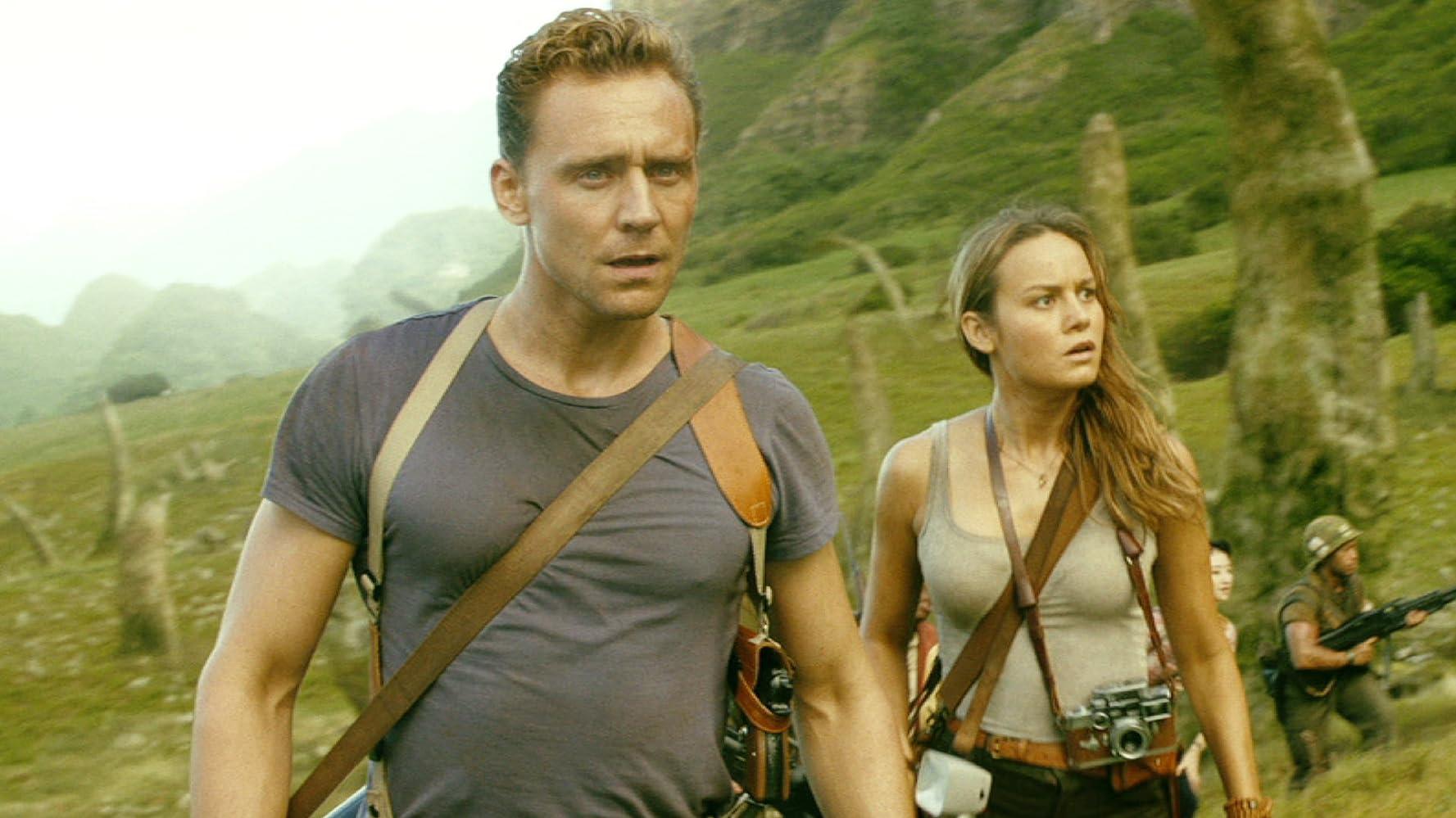 Brie Larson and Tom Hiddleston in Kong: Skull Island (2017)