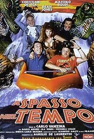 Massimo Boldi, Christian De Sica, and Veronica Logan in A spasso nel tempo (1996)
