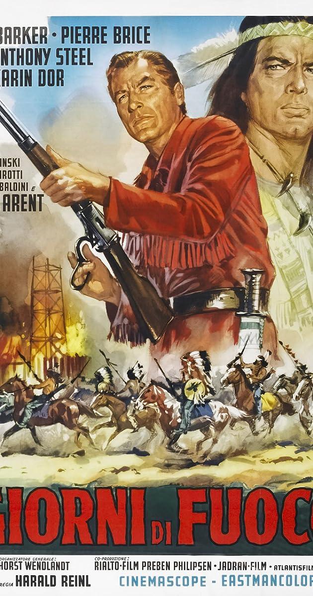 "Movie Poster 4 film/""APANATCHI/""British Western art.Cowboy.Harald Philipp.Apaches"