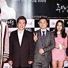 Eun-pi Kang, Do-bin Baek, Nam Kyung-eub, Wook Han Yeo, and Soo Sung Lee at an event for Lost Flower Eo Woo-dong (2015)