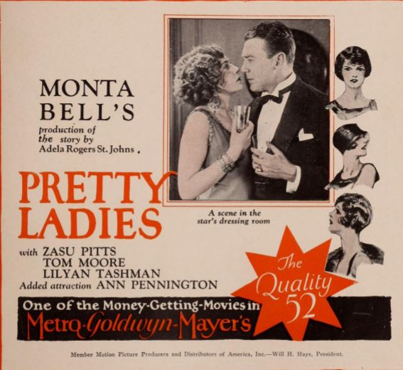 Tom Moore, Ann Pennington, Norma Shearer, and Lilyan Tashman in Pretty Ladies (1925)