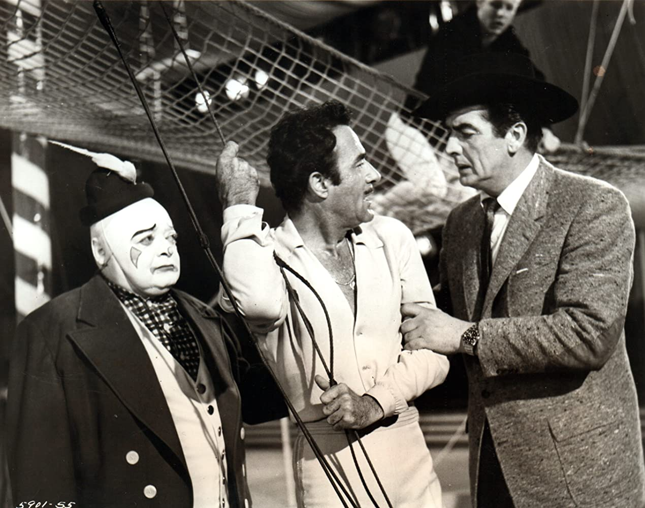 Peter Lorre, Victor Mature, and Gilbert Roland in The Big Circus (1959)