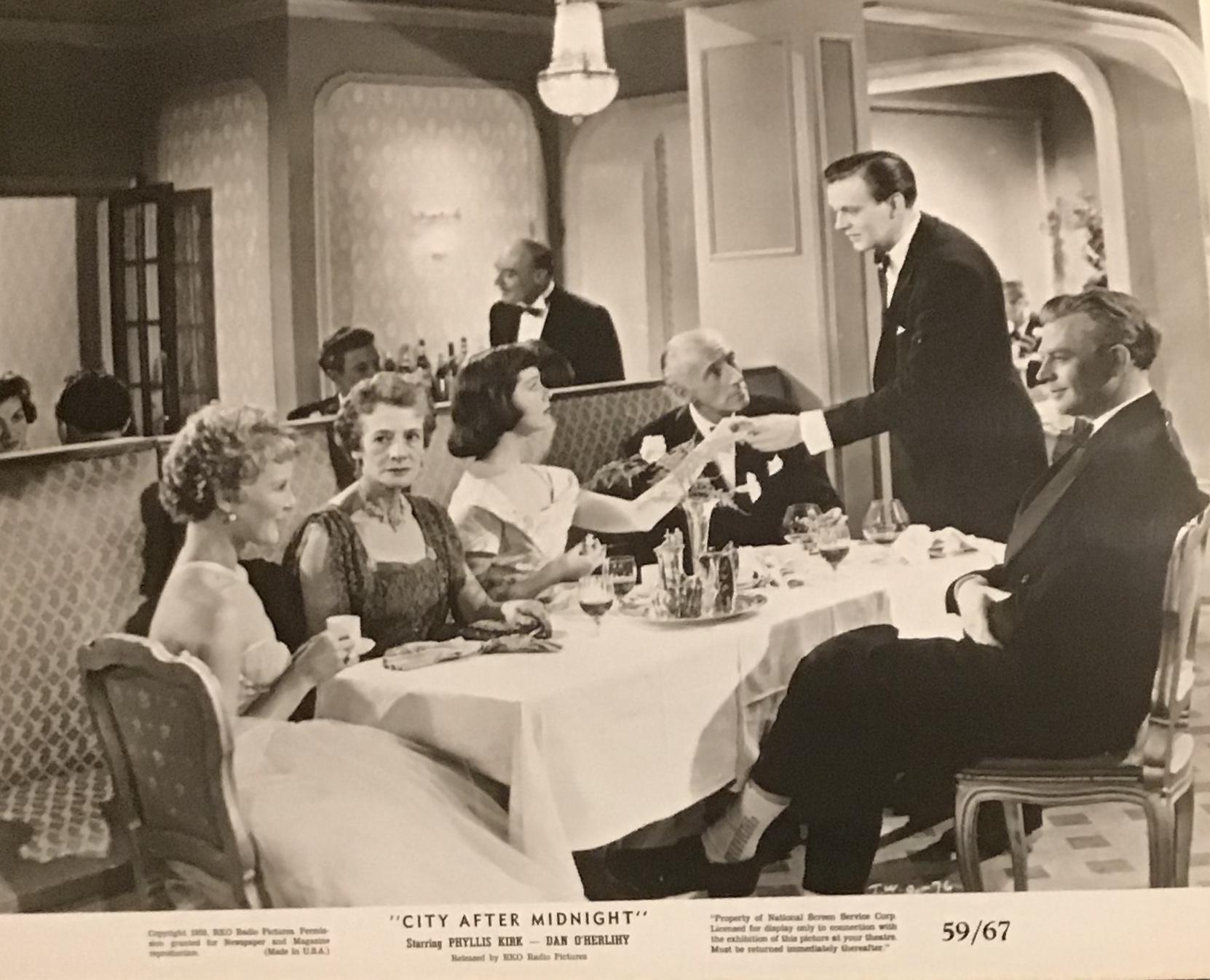 Petula Clark, Wilfrid Hyde-White, Phyllis Kirk, Dan O'Herlihy, Jack Watling, and Margaret Withers in That Woman Opposite (1957)