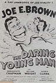 Joe E. Brown, Marguerite Chapman, Claire Dodd, and Jean Inness in The Daring Young Man (1942)