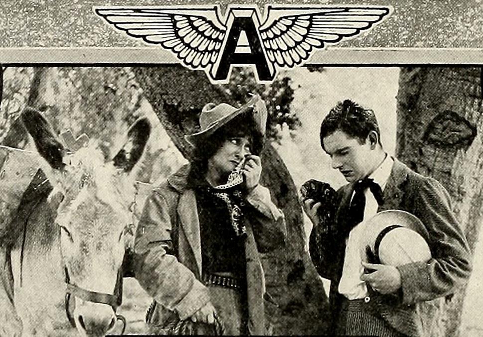 J. Warren Kerrigan and Louise Lester in Calamity Anne, Heroine (1913)