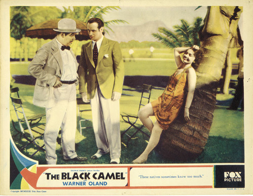 Warner Oland, Rita Rozelle, and Victor Varconi in The Black Camel (1931)