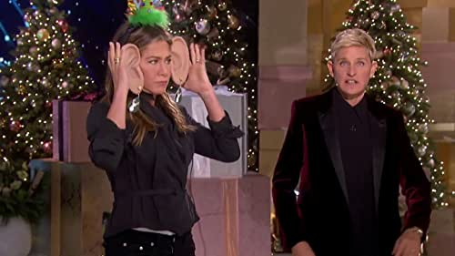 Ellen's Greatest Night Of Giveaways: Jennifer Aniston Plays Say Whaaat?