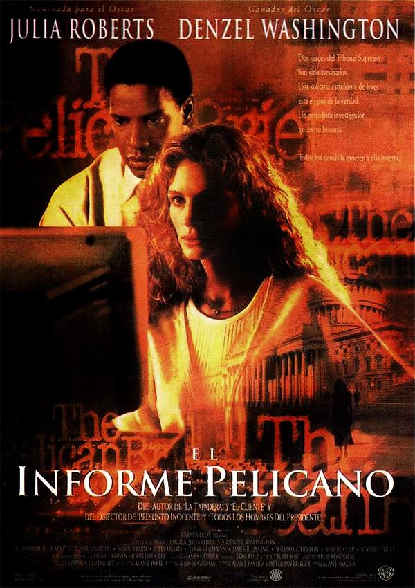 Julia Roberts and Denzel Washington in The Pelican Brief (1993)