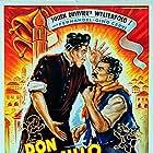 Gino Cervi, Julien Duvivier, and Fernandel in Don Camillo (1952)