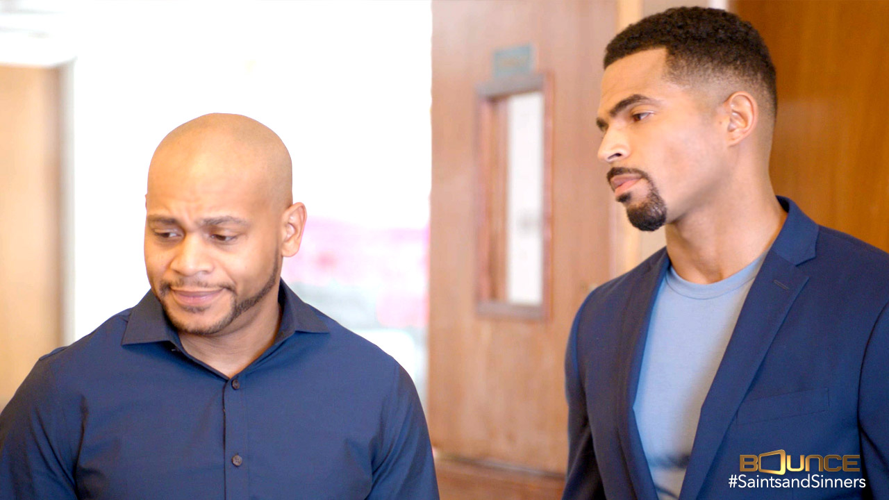 """JD Williams and Anthony O. Dalton II in """"Saints & Sinners"""""""
