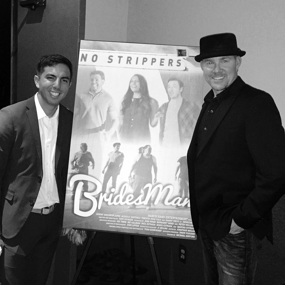 Todd Schroeder and Tony Estrada at an event for Bridesman (2016)