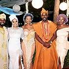 Linda Ihuoma-Suleiman, Beverly Naya, Mawuli Gavor, Zainab Balogun, Falz, and Beverly Osu in Chief Daddy (2018)