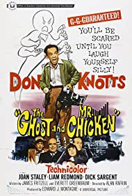 Don Knotts, Philip Ober, Liam Redmond, and Joan Staley in The Ghost and Mr. Chicken (1966)