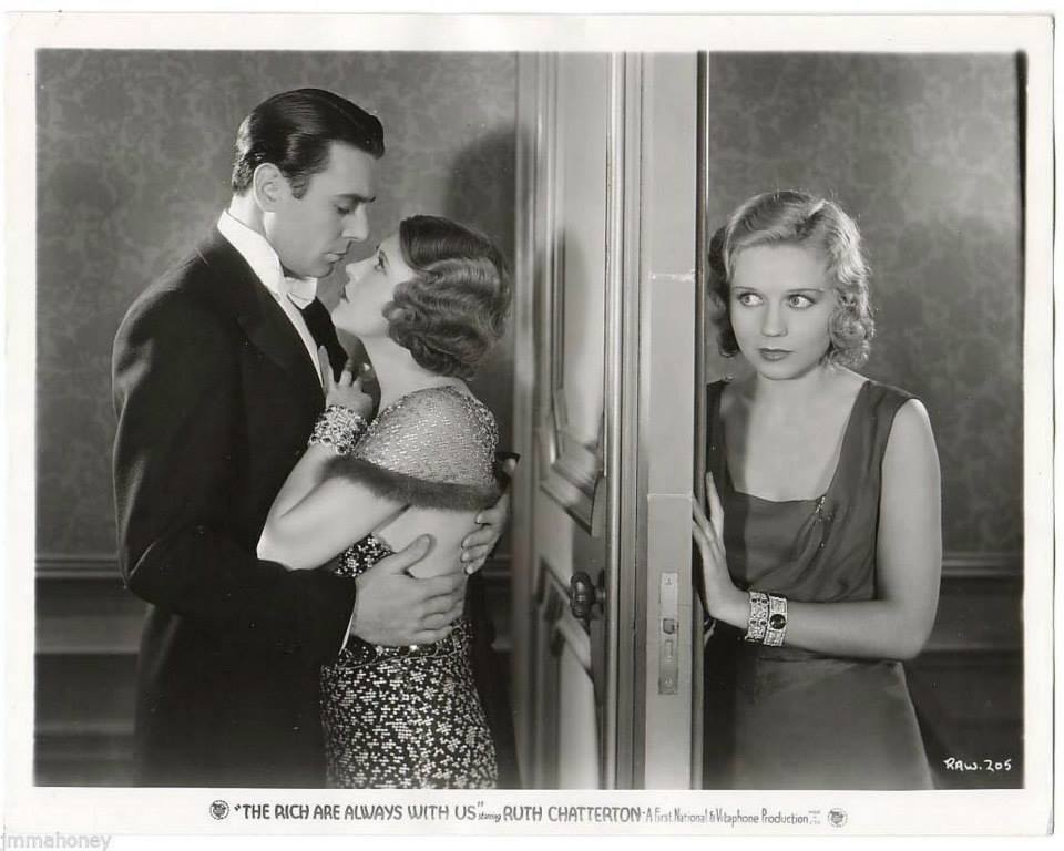 George Brent, Ruth Chatterton, and Adrienne Dore in The Rich Are Always with Us (1932)