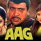 Sonali Bendre, Govinda, and Shilpa Shetty Kundra in Aag (1994)