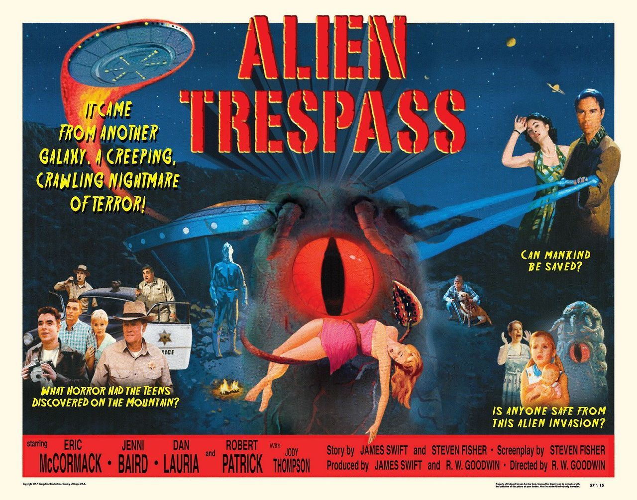 Robert Patrick, Eric McCormack, Dan Lauria, and Jenni Baird in Alien Trespass (2009)