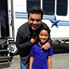 """On set with George Lopez at FX's new show, """"Saint George."""""""