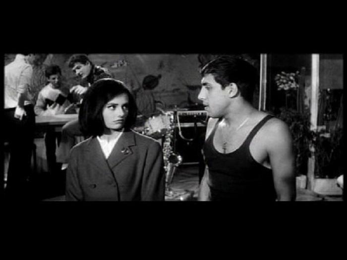 Adriano Celentano and Claudia Mori in Uno strano tipo (1963)