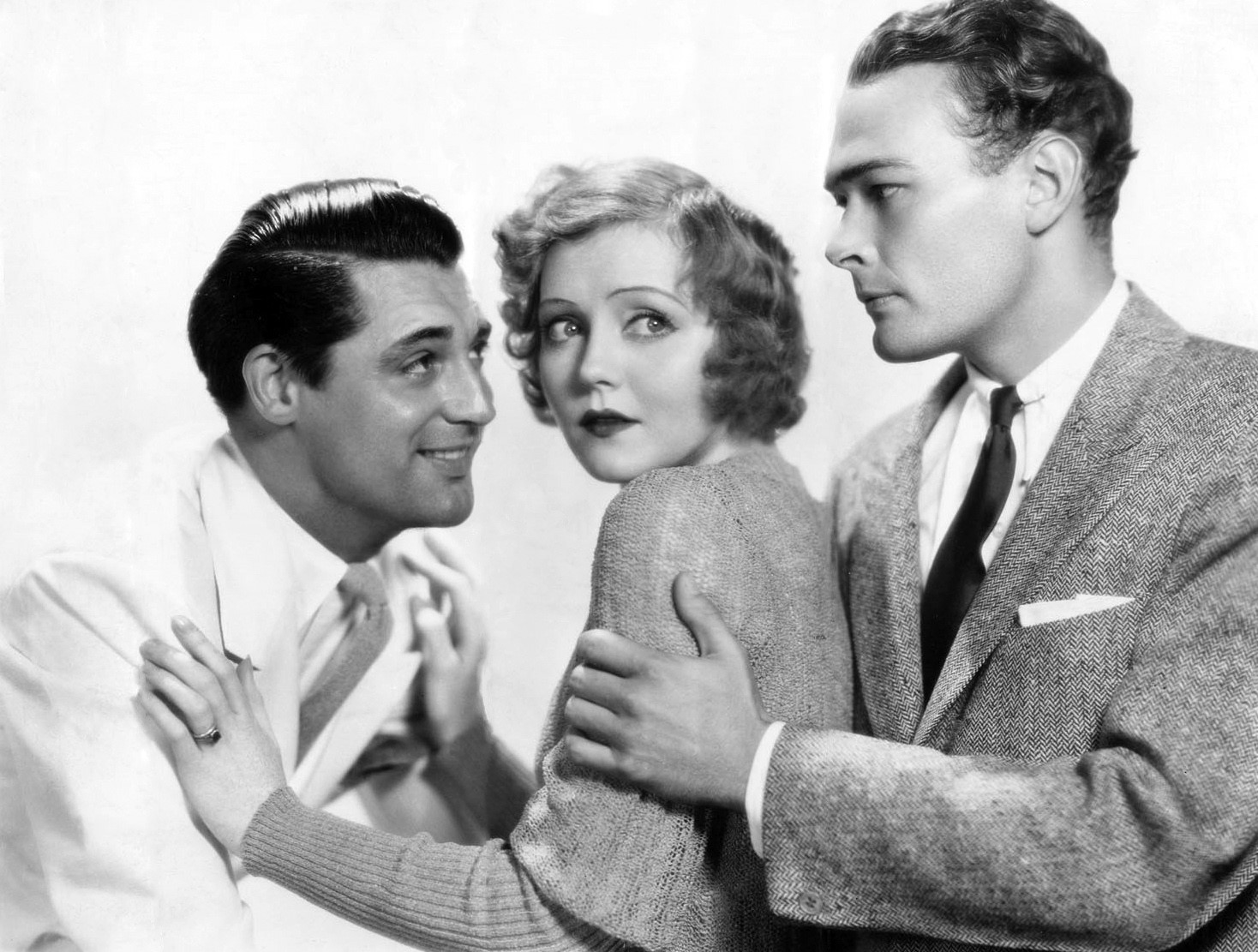 Cary Grant, Nancy Carroll, and Edward Woods in Hot Saturday (1932)