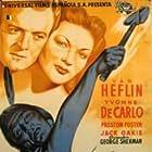 Yvonne De Carlo, Van Heflin, and John War Eagle in Tomahawk (1951)