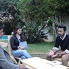 Arjun Sarja, Prasanna, and Varalaxmi Sarathkumar in Nibunan (2017)